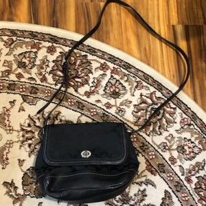 Coach black shoulder or crossbody bag